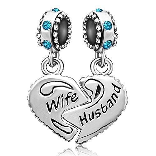 JMQJewelry Wife Husband Heart