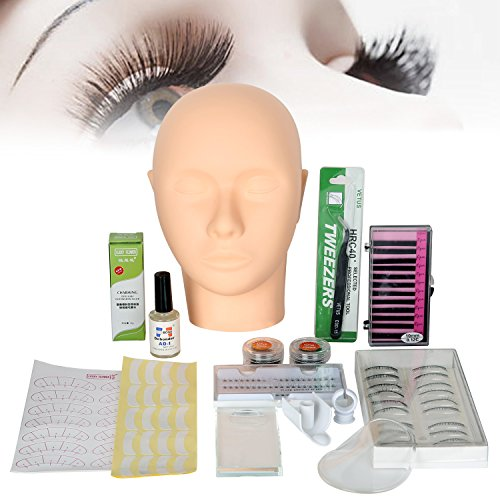 All in 1 Practice Mannequin Head for Makeup Training and Eyelash Extension...