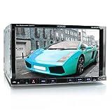 XOMAX XM-2DTSB79 Autoradio / Radio para coche / Moniceiver con Bluetooth función de manos libres & reproducción de música + 18 cm / 7' pulgadas de pantalla táctil +