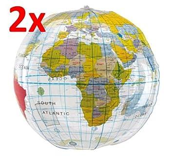 R507 2 x Agua Balón de fútbol playa - Bola del mundo Diseño aprox ...
