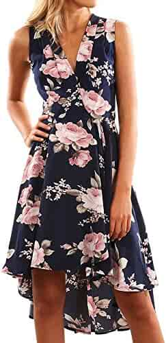 1358e9774f Hotkey® Clearance Women Dresses On Sale Floral Printed Cocktail Party  Evening Mini Dress Beach Sundress