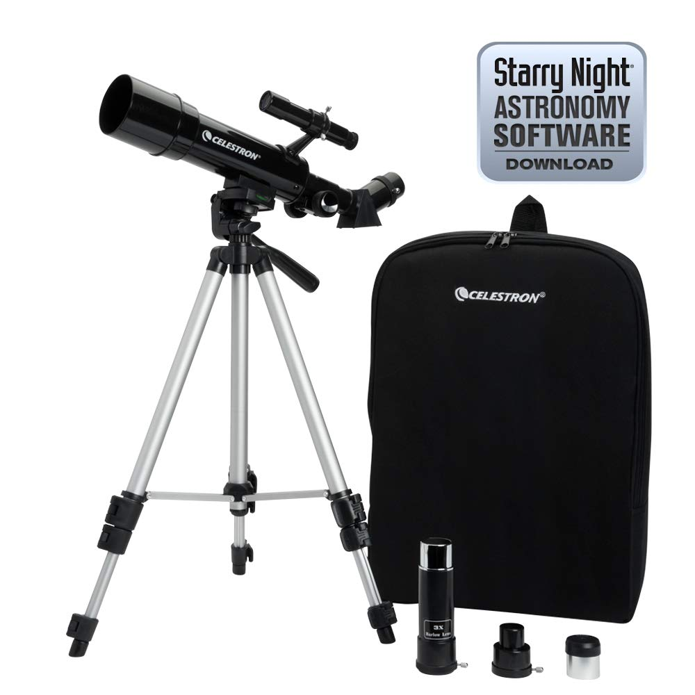 Celestron 21038 Travel Scope 50 Telescope (Black) by Celestron