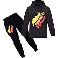 Thombase Prestonplayz Youtuber Boys Girls Hoodie + Pant Set Pullover Sweatshirts Hooded Tracksuit Preston Playz…