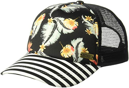 Roxy Women's Water Come Down Trucker Hat, anthracite tropical love sample -