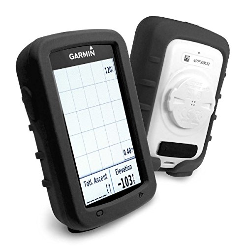 Tuff-Luv Silicone Gel Skin Case and Screen Cover for Garmin Edge 820 - Black by Tuff-luv