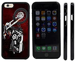 Rikki KnightTM Harley Davidson Pirate Skull Design iPhone 6 Case Cover (Black Rubber with front bumper protection) for Apple iPhone 6