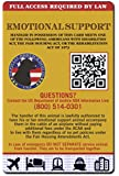 Buttonsmith® Custom Personalized Service Dog ID Card