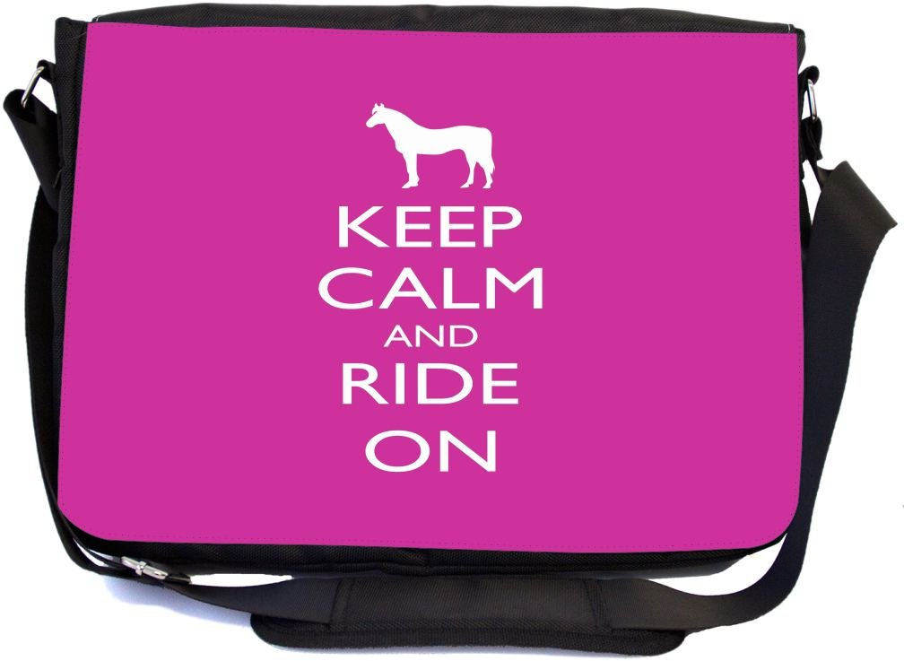 best Rikki Knight Keep Calm and Ride On Pink Rose Color Design  Multifunctional Messenger Bag - 93e66a95e7345