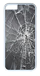 ACESR Broken Screen iPhone 6 Hard Shell Case Polycarbonate Plastics Cute Case for Apple iPhone 6(4.7 inch) White
