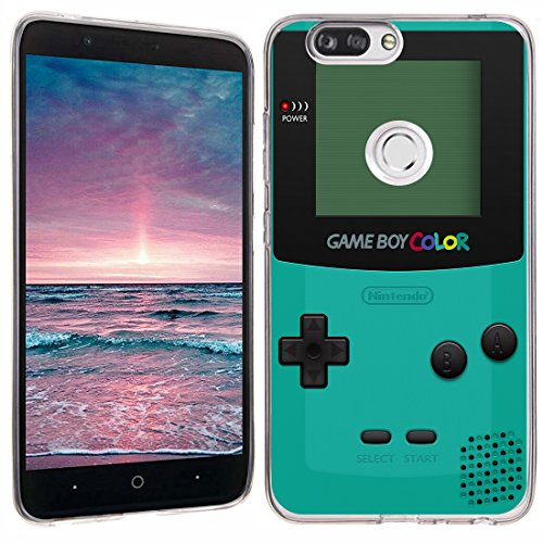 ZTE Blade Z Max case - [GameBoy Mint] (Clear) PaletteShield Soft Flexible TPU gel skin phone cover (fit ZTE Blade Z Max/Sequoia/Zmax Pro 2)