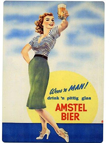 amstel-bier-girl-metal-counter-display-europe