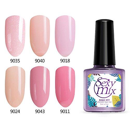 Gel Nail Polish, Soak Off UV LED Nail Lamp Pink Gel Polish f