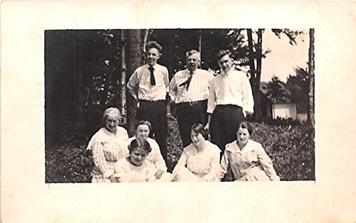 Group of People Old Forge, New York postcard