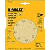 DEWALT DW4303 5-Inch 8-Hole 120-Grit Hook-and-Loop Random Orbit Sandpaper (5-Pack)