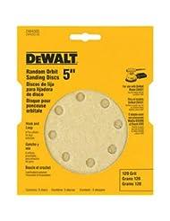 DEWALT DW4303 5-Inch 8-Hole 120-Grit Hook-and-Loop Random Orb...
