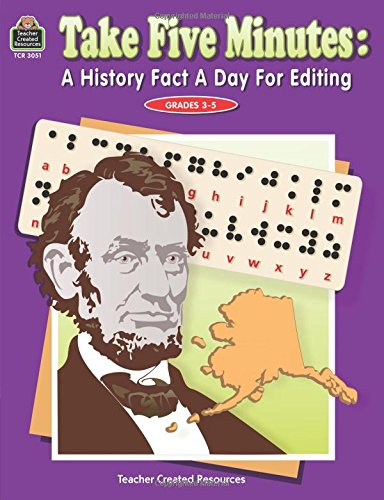 Download Take Five Minutes: A History Fact a Day for Editing (Take Five Minutes (Teacher Created Resources)) pdf epub