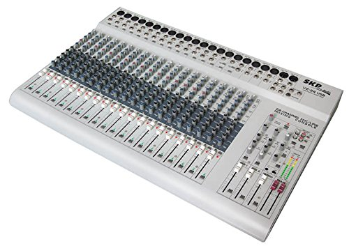 (SKP PRO AUDIO VZ-24 USB Mixing Console. 20 Mono Channels - 4 Stereo Inputs Channels with 4 Band EQ)