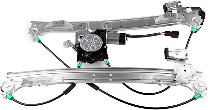 Front Left Driver Side Power Window Regulator with Motor fits for 2002-2009 Chevrolet Truck Trail Blazer 741-690 10357004 10360625 15095067 15155113