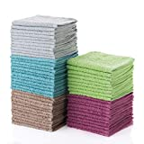 Simpli-Magic 79148 Multi Washcloths-Pack of 60-Size 12 x 12-5 Colors Included, 12'' x 12, 60 Piece