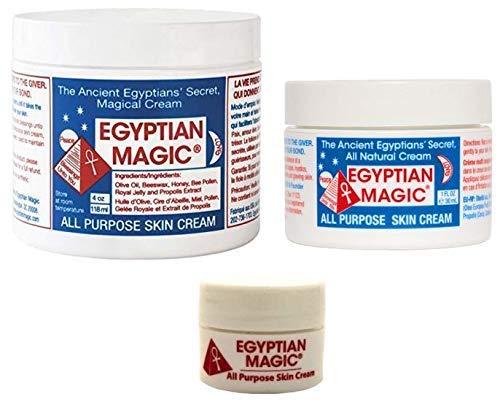Egyptian Magic All Purpose Skin Cream Bundle - 3 items: 4 oz Jar, 1 oz Jar.25 oz Jar (5.25 oz Total)