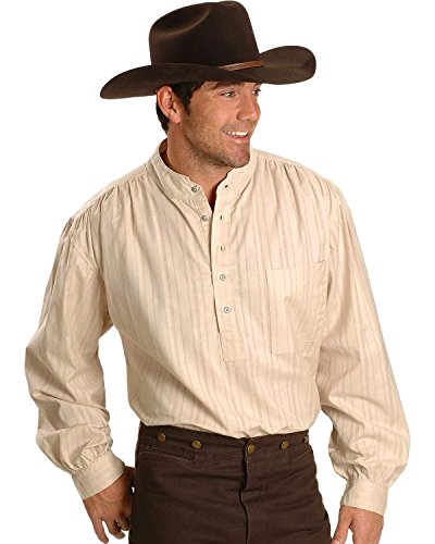 Scully Rangewear Men's Rangewear Natural Old Fashioned Railroader Shirt Natural XX-Large (Celtic Mens Boots)