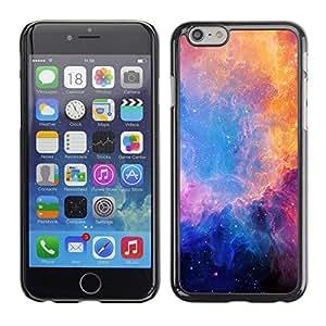 TECHCASE**Cubierta de la caja de protección la piel dura para el ** Apple iPhone 6 Plus 5.5 ** Universe Blue Stars Nebulae Purple