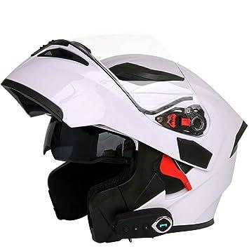 NBZH Moto Motocicleta Cascos Bluetooth Modular Flip Up ...