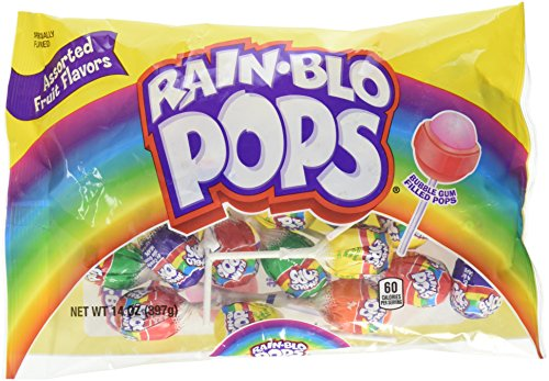 Rain-Blo Bubble Gum Filled Lollipops, 14 Ounce ()