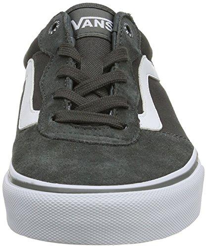 Vans MILTON - zapatilla deportiva de piel hombre gris - Grau ((Suede Canvas)C FM5)
