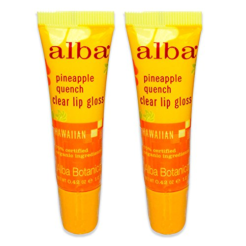 - Alba Botanica, Clear Lip Gloss, Pineapple Quench, 0.42 oz (12 g) - 2pc