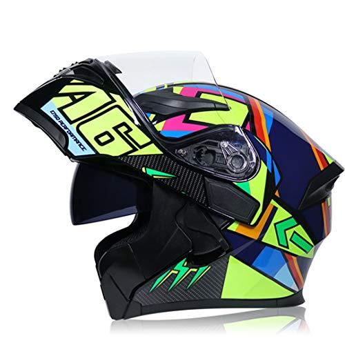Flip Up Motorcycle Helmet Modular Moto Helmet with Inner Sun Visor ty Double Lens Racing Full Face Helmets a5 XXL