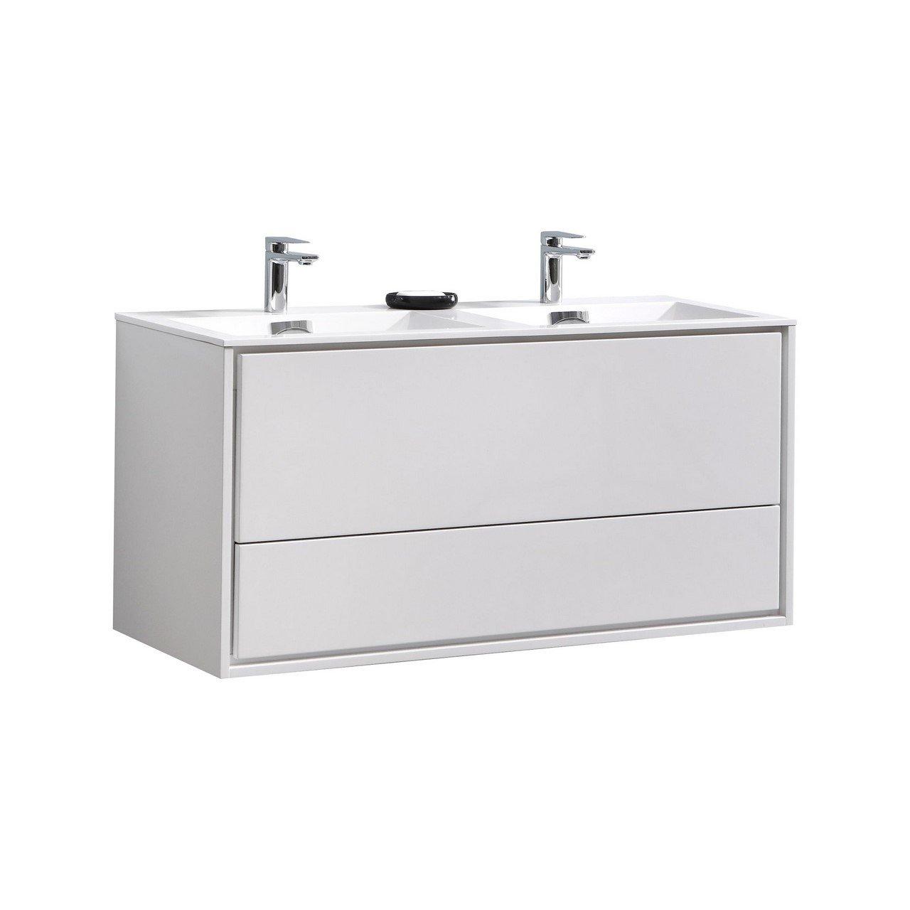 Swell Enova Home Deluso 48Wall Mount Modern Bathroom Vanity Set Download Free Architecture Designs Ferenbritishbridgeorg