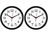 Bernhard Products - Black Wall Clocks, 2 Pack