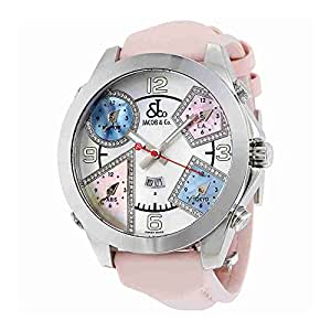 Jacob and Co Five Time Zone Multi-Color Mother of Pearl Diamond Mens Watch JC-24DA