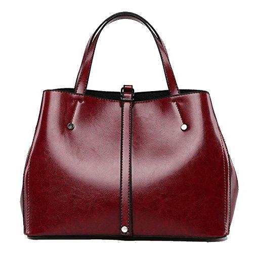 VogueZone009 Donna Viaggio Satchel-Style Borse a tracolla Borse a tracolla,CCALBP181282,Marrone Chiaretto