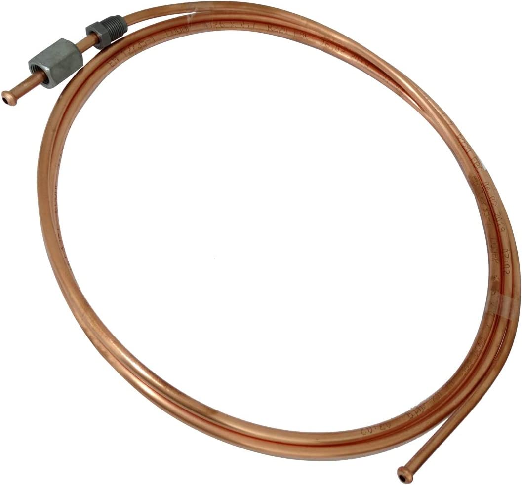 Aerzetix C42581 Brake Pipe Copper Tube 250 cm Diameter 4.76 mm with Fittings F10 x 1//M10 x 1