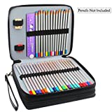 Miraclekoo 120 Slots PU Leather Pencil Holder Pencil Case Large Capacity Multi-layer Pencil Bag (BLACK)