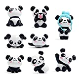 Toosunny 8 Pack Fridge Magnets Panda Refrigerator Office Magnets for Calendars Whiteboards Maps Resin Fun Decorative Decoration