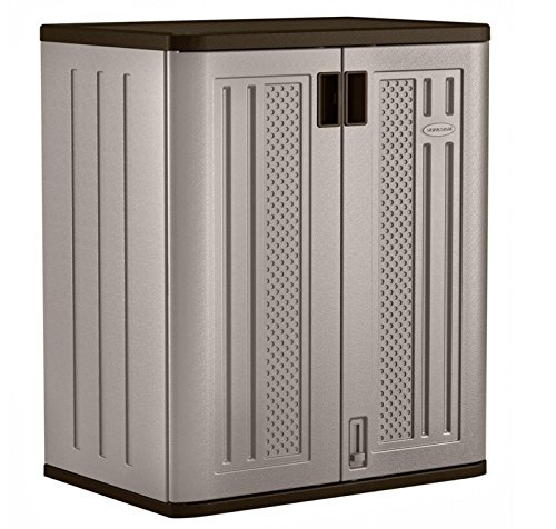 Suncast 30 in. x 36 in. 2 Metal Shelf Durable Resin Base Garage Storage Cabinet .sell#(homewarenyou it#159111933581231 by Regarmans