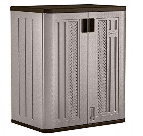 Suncast 30 in. x 36 in. 2 Metal Shelf Durable Resin Base Garage Storage Cabinet .sell#(homewarenyou it#159111933581231 by Regarmans