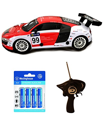 Rd Race (Best Christmas Gifts, Amazing Audi Inspired RC Sports Race Drift Car (Rd/Wt) w/ 2 extra tires and 8 AA Alkaline Batteries,Stocking Stuffers, Birthday & Christmas Gift Ideas for Boys - Age 3 and Up)