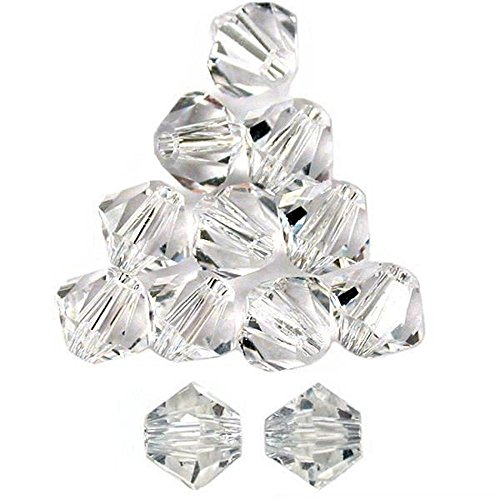 Crystal Silver Shade 12 - 12 Crystal Silver Shade Bicone Swarovski Beads 5301 6mm