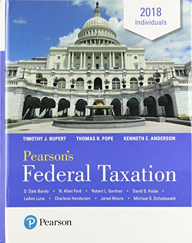 Pearson's Federal Taxation 2018 Individuals Plus MyLab Accounting with Pearson eText -- Access Card Package (31st Edition)