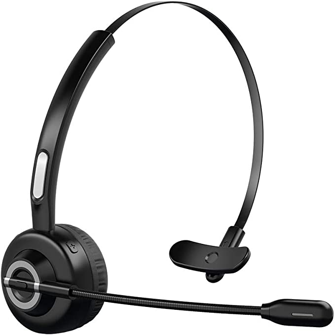 Crystal Clear Wireless Bluetooth Headset For Skype Desktop Mac Gaming