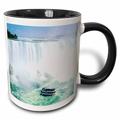 3dRose 3dRose Maid Of The Mist Boat Under Niagra Falls - Two Tone Black Mug, 11oz (mug_56919_4), , - Niagra Outlets Falls