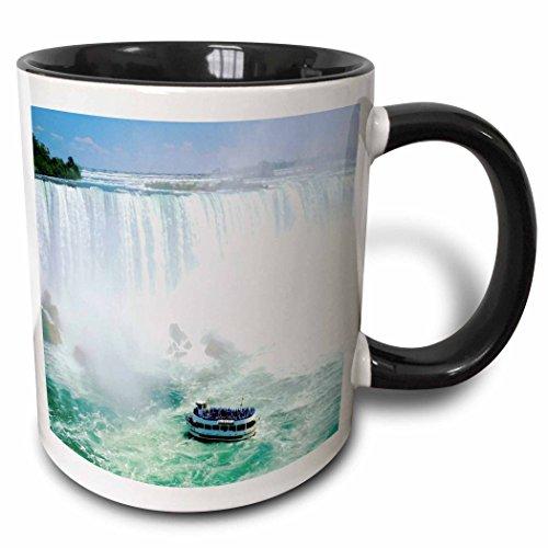3dRose 3dRose Maid Of The Mist Boat Under Niagra Falls - Two Tone Black Mug, 11oz (mug_56919_4), , - Niagra Falls Outlets