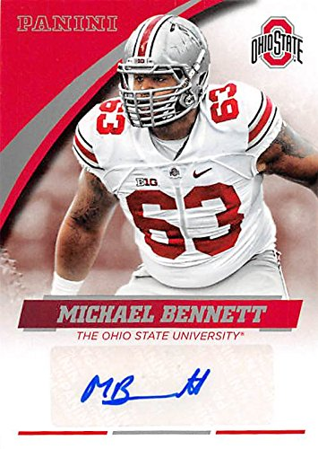 Michael Bennett autographed Football Card (Ohio State Buckeyes) 2015 Panini Team Collection #MB-OSU (Football Autographed Bennett)