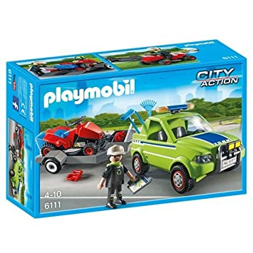 PLAYMOBIL - City Action Paisajista con Cortacésped Playsets de Figuras de jugete, Color Multicolor (6111)