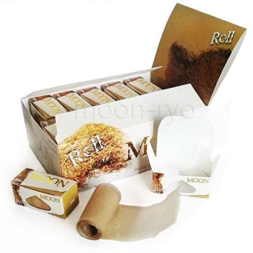 MOON Unbleached Slow Burning Pure Hemp Rolling Paper Cigarette Paper (Rolls - 1 box)