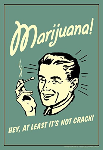 Marijuana! Hey at Least Its Not Crack Retro Humor Mural Giant Poster 36x54 inch (Best Buds Weed Wallpaper)